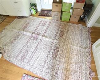Vintage Red/Pink Woven Rug approximately 5x8 $50