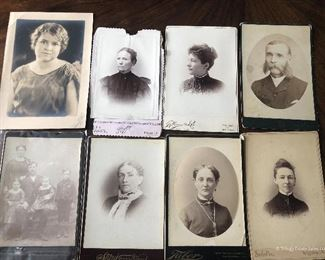 Lot of 8 Antique Pictures $15
