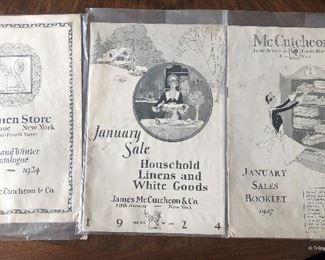 Three McCutcheon's Catalogs  $15 each