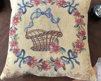 """French Needlepoint Pillow  $20 18"""" x 18"""""""