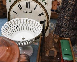 Symonds Clock Face $25 Pierced Footed Bowl  $12
