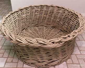 "Round Basket  $15   Approximately 18"" diameter"
