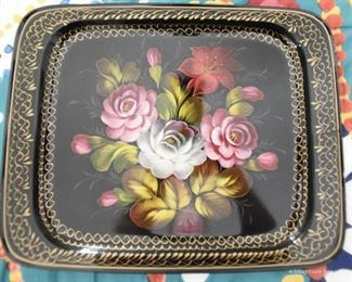 """Rounded Corners Tole Tray  $25  Approximately 14"""" x 18"""""""