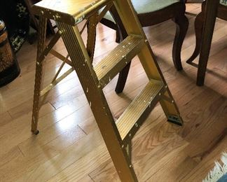 Snazzy Gold Step Ladder $10