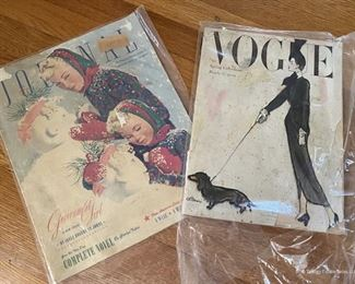 Vintage Magazines $8 each   VOGUE - SOLD