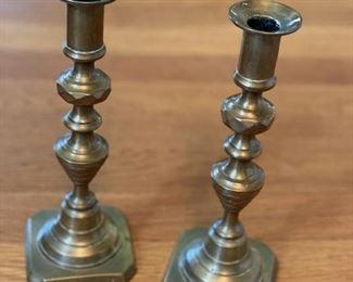 Small Brass Candlesticks $15