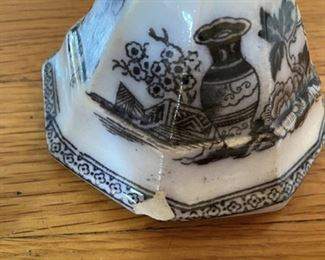 Small Lidded Pot $10 some chips on inside lid, and base