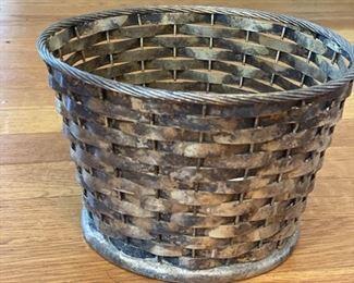 Small woven metal basket  $15