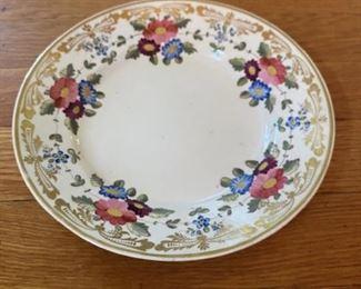 Flowered plate $12