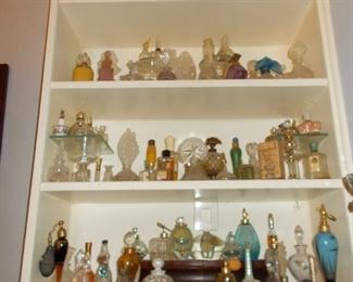 Some of the  many perfume bottles!!