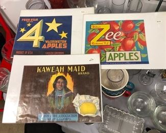 Vintage crate labels - $5 each