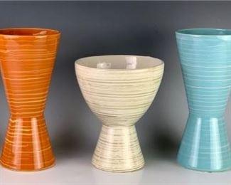 Lot of 4 Mid Century McCoy Harmony Vases