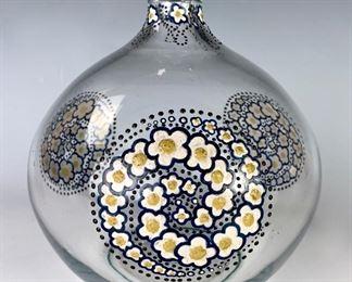 Signed Goupy Art Deco Enameled Vase C. 1920's