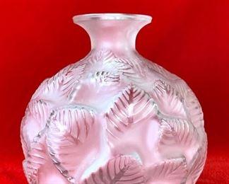 """R. Lalique """"Ormeaux"""" Vase"""