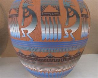 Authentic hand-carved Navajo pottery by Hilda Whitegoat