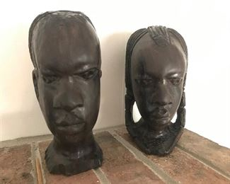 African Carved Busts