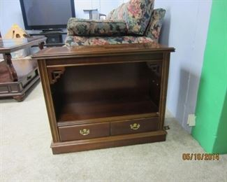 Library-style side table with two drawers