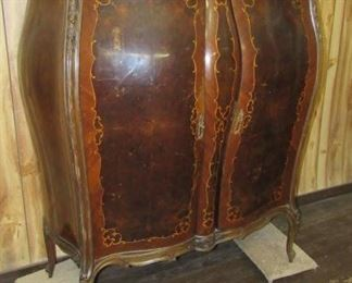 French Double Door Armoire w/Marble Top
