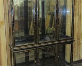 2 Piece Oriental Lighted Display Cabinet