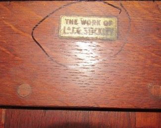 Stickley Mark Underneath Table