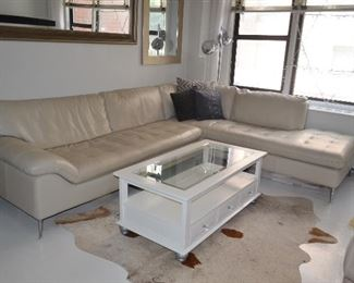 Leather Sectional from Bloomingdale's