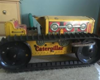 Marx Toys, Wind-Up, Working, Tin, Caterpillar Tractor--Great Condition