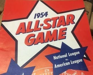 1954 MLB ALL-STAR Program and unmarked Scorecard--Collectors Dream!