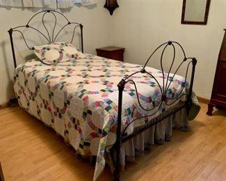 $280.00........Antique Three Quarter Iron Bed (A236)