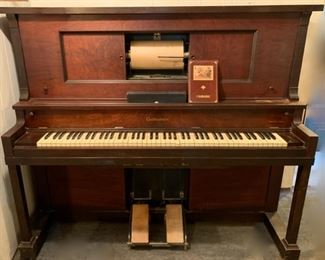 $900.00........1925 Gulbransen Player Piano with piano player rolls as is , did work at one time but it's been several years since family has used it.