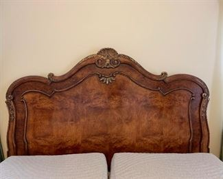 $3000. Impressive Henredon King headboard and frame. Excellent condition! (Mattresses NOT included.)