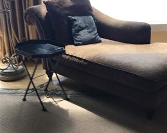 Chenille chaise lounge $ 245.00