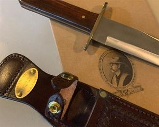Large Colonel Littleton bowie knife, new in box -pristine