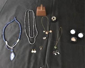 Diamond Pin and Pearls