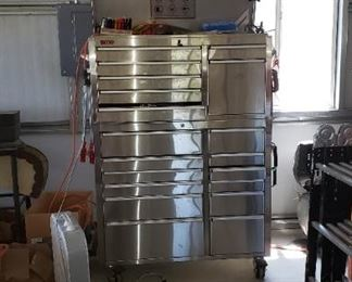 large stainless tool box