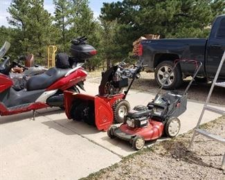 Snow blower and Push mower