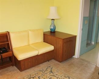 Custom Built loveseat with cabinet combo