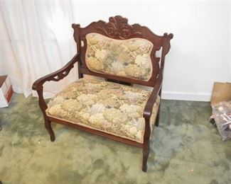 7. Carved Victorian Parlor Settee