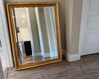 Gold Beveled Mirror with Hanging Hardware (35x46) $80 - DISCOUNTED TO $60, OBO