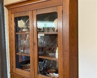 Antique Corner Cabinet w/Key 44w 18.5d 77.5h, $500 - DISCOUNTED TO $275, OBO
