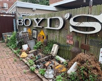 This Backyard is STUFFED with cool industrial finds