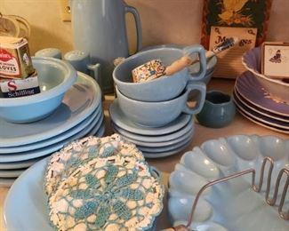 blue vintage kitchen