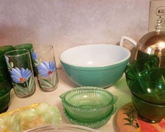 green vintage kitchen