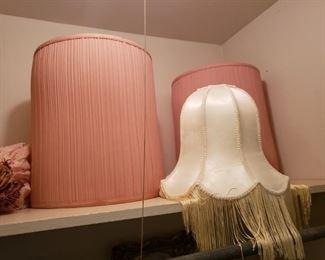 lamp shades..pink!