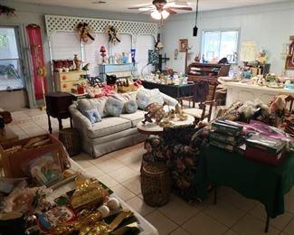 a huge bonus room packed with treasures