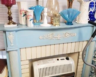 blue mantle with insert