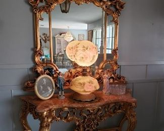 Grand entry table and mirror