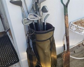 lots of golf clubs