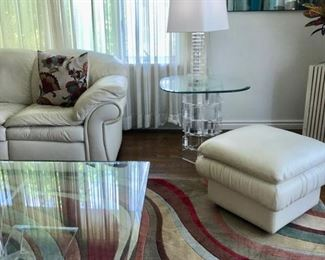 Contemporary glass top coffee & end tables