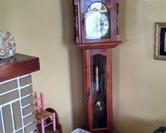 old beautiful grandfather clock