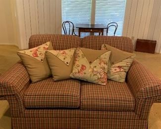 Country plaid love seat